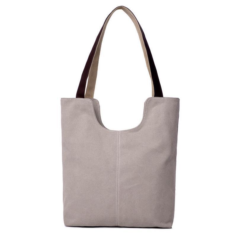 bc48db36275b Cotton Canvas Big Shoulder Tote Bag Simple Casual Handbag Hand Bags Women  Female Handbags Shopping Shopper Shoulder Totes Bag Leather Handbags Hand  Bags ...