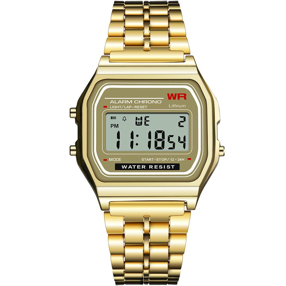 06f56776317c ... LED Digital Watch Sports Women Men Military Wristwatches Gold Vintage  Electronic Digital Watch Present Gift 9009 Expensive Watches Watches Online  From ...
