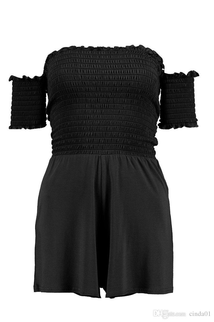Женщина комбинезоны Весна женщины костюмы тела мода плиссированные рукавов сексуальный тощий тонкий Фитнес Боди дамы комбинезон