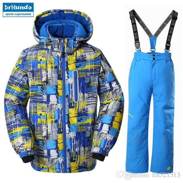 cf5712a5f 2019 2018 NEW Boys Ski Jacket Children Waterproof Windproof Clothing ...