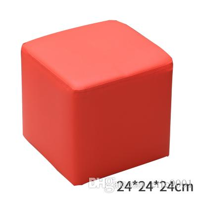 2018 Pu Leather Round Stools Ottoman Sofa Chair Portable Furniture Kids  Stool Soft Foam Seat Cushion From Eric9001, $73.36 | Dhgate.Com