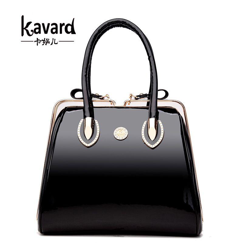 Großhandel Kavard Luxus Lackleder Handtaschen Frauen Taschen ...