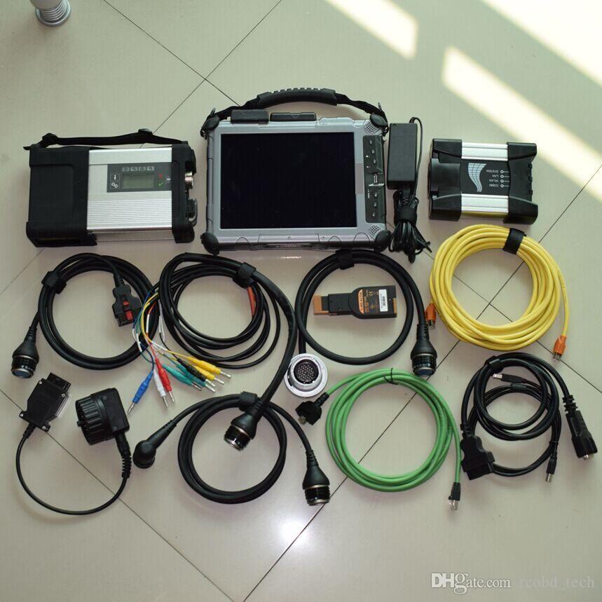 2IN1 для mb star c5 sd connect для bmw icom next ssd xplore ноутбук ix104 i7 4g диагностика готова к использованию лучше всего