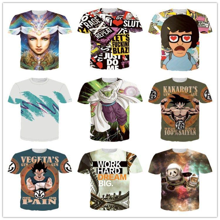 Dragon Ball DBZ Bulma Super Saiyan Vegeta футболка 3D Мужчины Женщины аниме Kid Гоку Готен Гохан 3D печать футболка Harajuku Lonzo мяч футболки