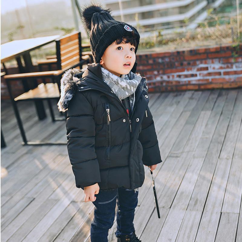 cf5d4c83d Baby Boys Jackets 2018 New Winter Children S Jacket Warm Fur Collar ...