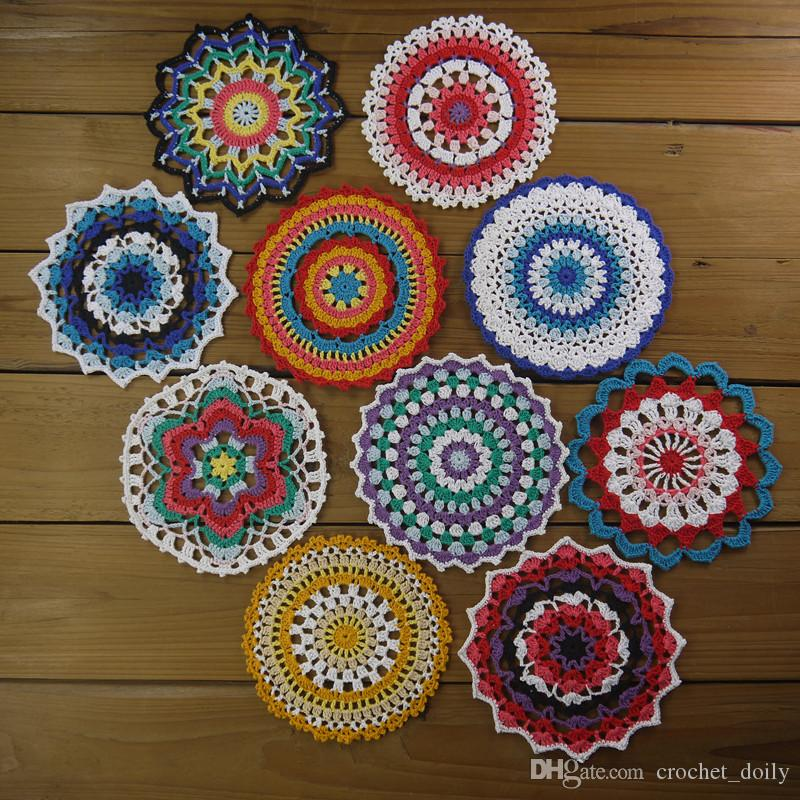 Blossom Mandala Crochet Mandala Coaster Crochet Doily Doilies