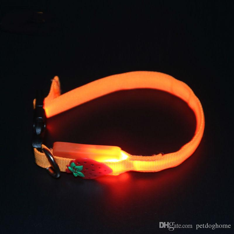 Nylon LED Pet Dog Cartoon Collar Night Safety Anti-lost Flashing Glow Collars Dog Supplies for Pet Dogs
