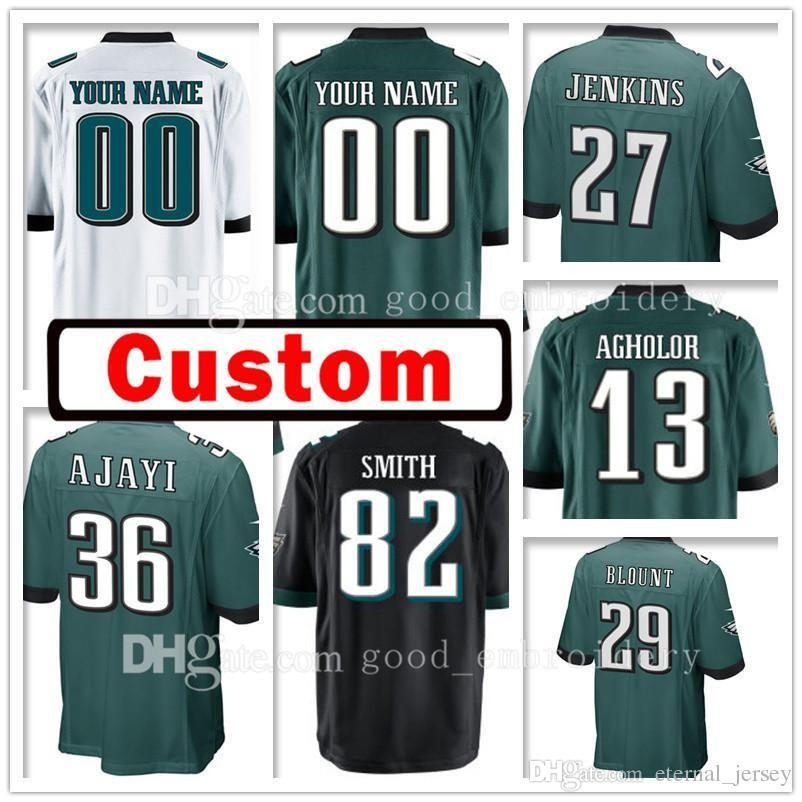 93849930fd8 2018 Custom Philadelphia Men 13 Nelson Agholor 82 Torrey Smith Jersey Eagle  27 Malcolm Jenkins 29 Legarrette Blount 36 Jay Ajayi Wentz Jerseys From ...