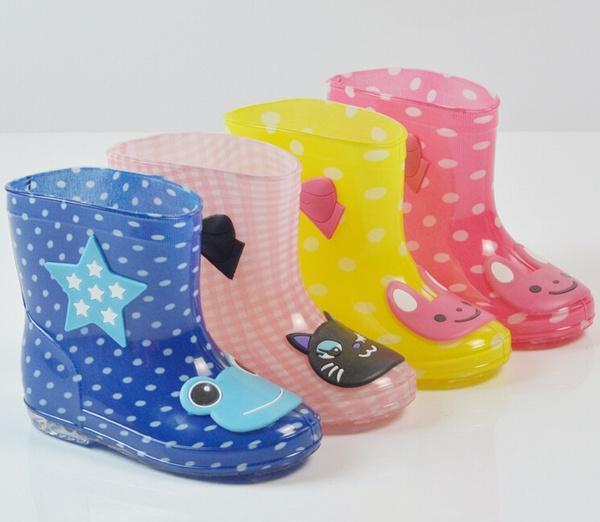 2018 fashion baby kids children rain boots cartoon crystal
