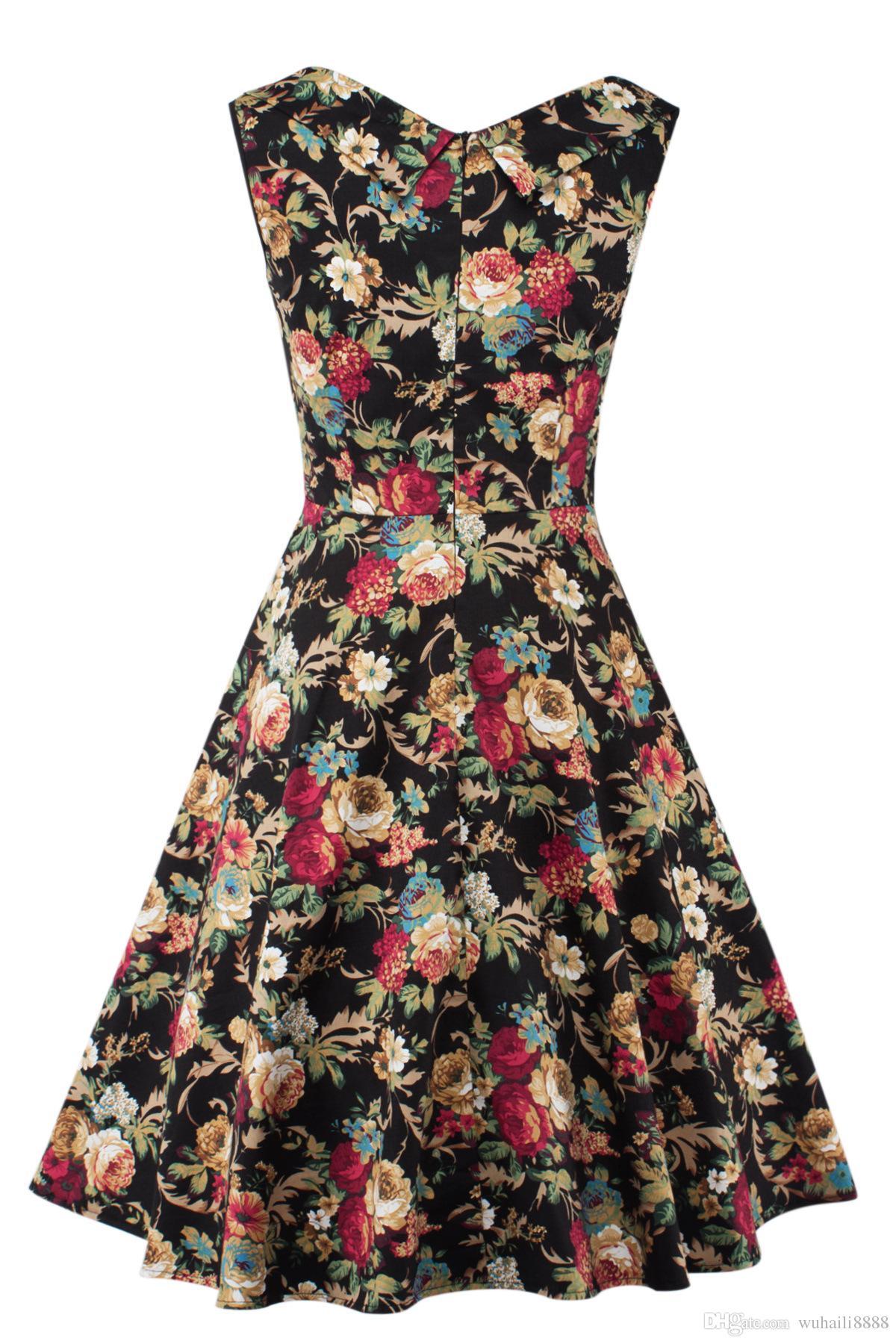 Rockabilly Retro S Frauen Kleider Pinup 50 60 Großhandel Vintage mOvw8yNn0