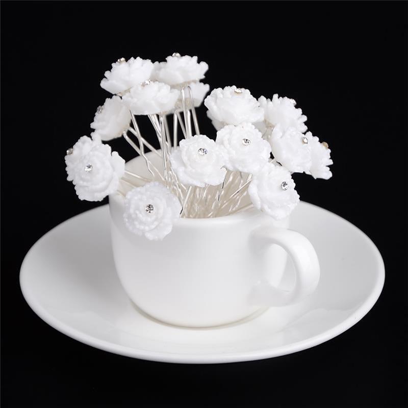 PINKSEE Wedding Bridal Rose Flower Crystal Hair Pins Clips ... 528078be49aa