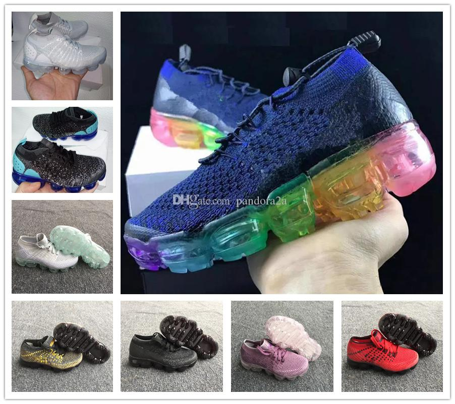 cheaper 2ed96 228ac Großhandel Nike Air Max Airmax Vapormax VM 2018 Turnschuhe Laufschuhe  Kinder Sportschuhe Jungen Mädchen Schuhe Training Baby Kinder Sport Sneaker  Schuh 10 ...