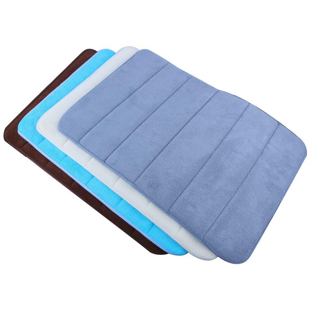 2018 Soft Bath Mat Bedroom Floor Shower Mat Absorbent Non Slip Pad ...
