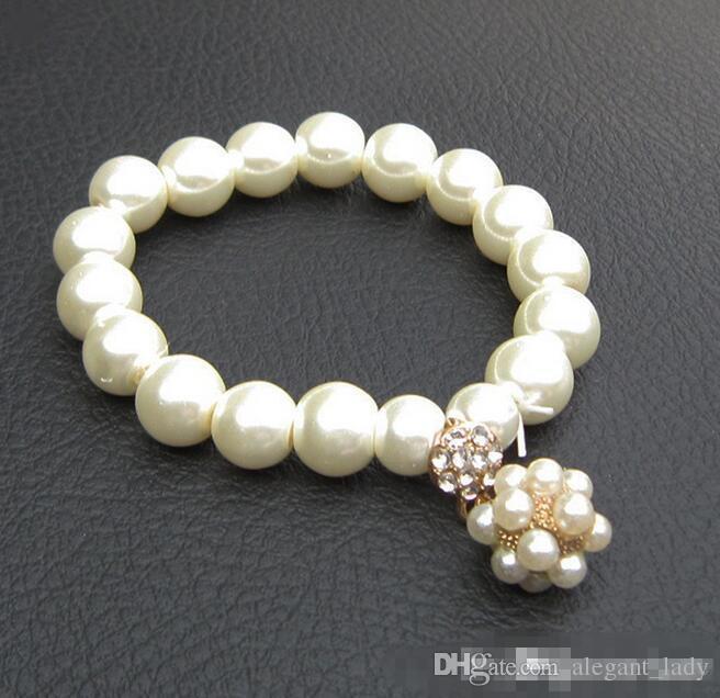 Mode de luxe Designer Pearl Bracelet Perla Bridal Charm Bijoux pour Femmes Lady Girl Beau Bracelet élastique Beau Mariage JOIITÉRY