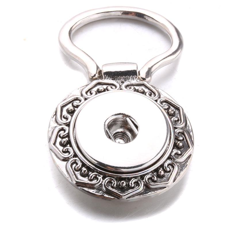 New High-quality Flower Type Silver Snap Button Frames Fit 18mm Snap ...