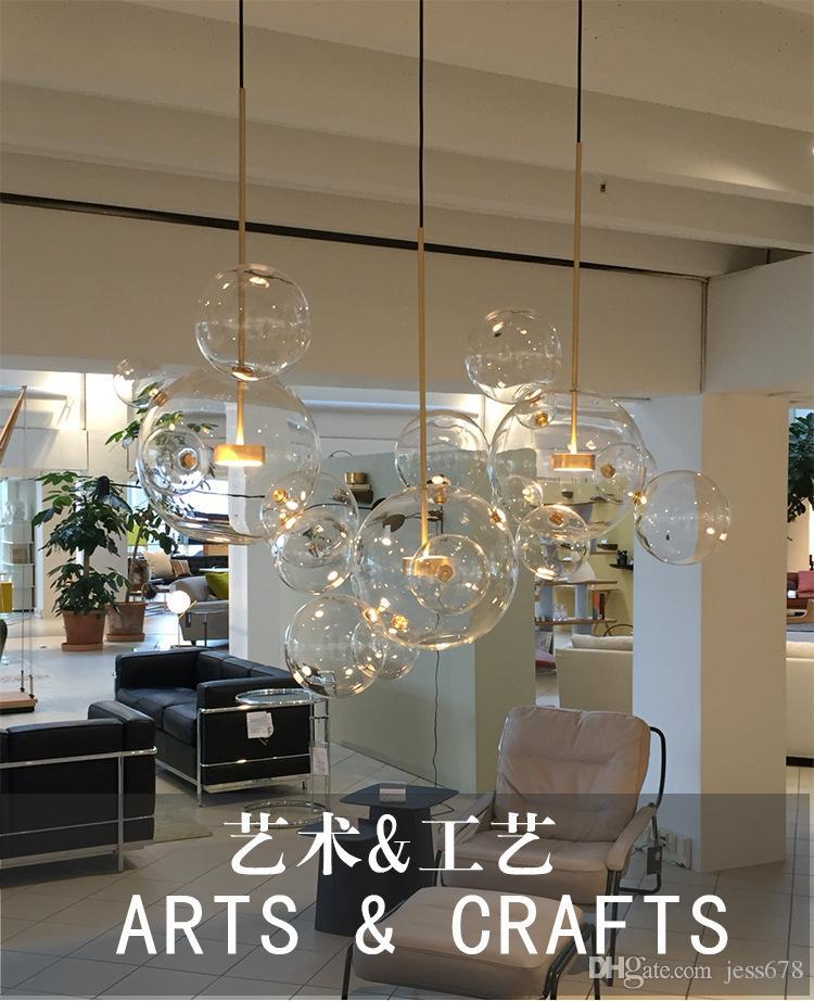 Moderne Luminaires Intérieur Luminaria Suspendu Luminaire Led Pendentif Lustre Verre Globe Lampe En Bolle Lumière Suspension 7fvbg6ymIY