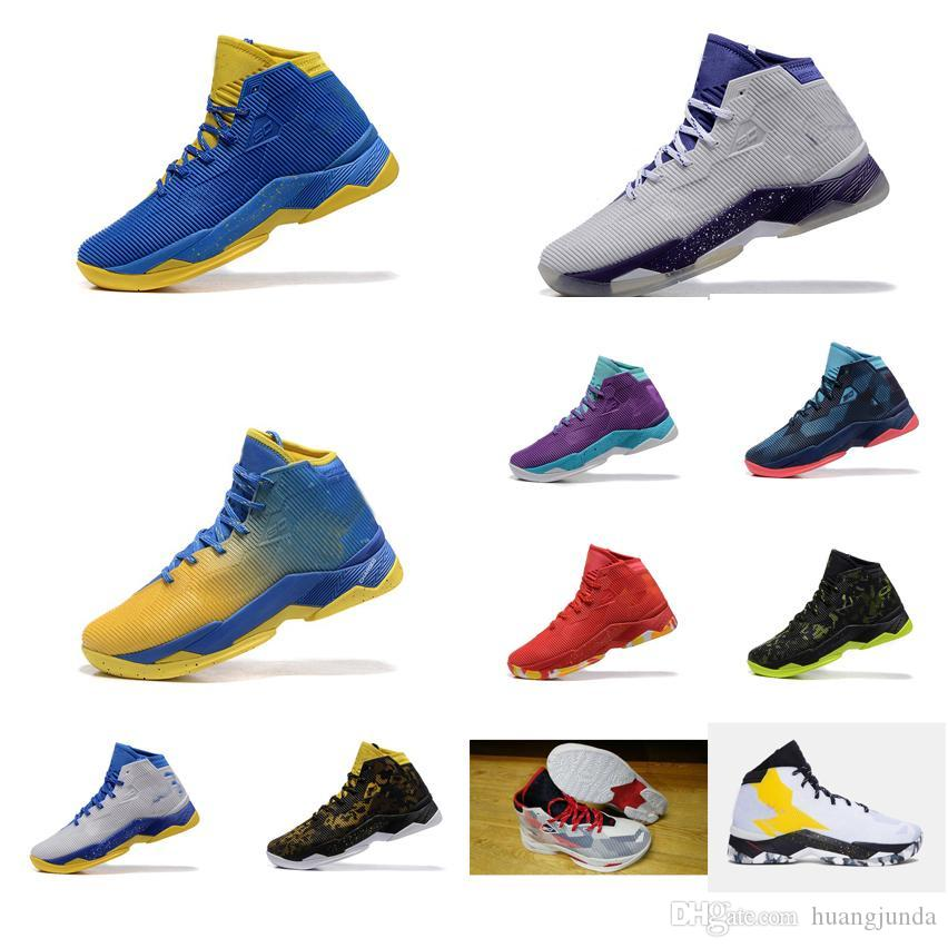 14d14e4dfdf 2019 cheap mens ua curry 2.5 basketball shoes red purple white blue yellow  stephen currys 2