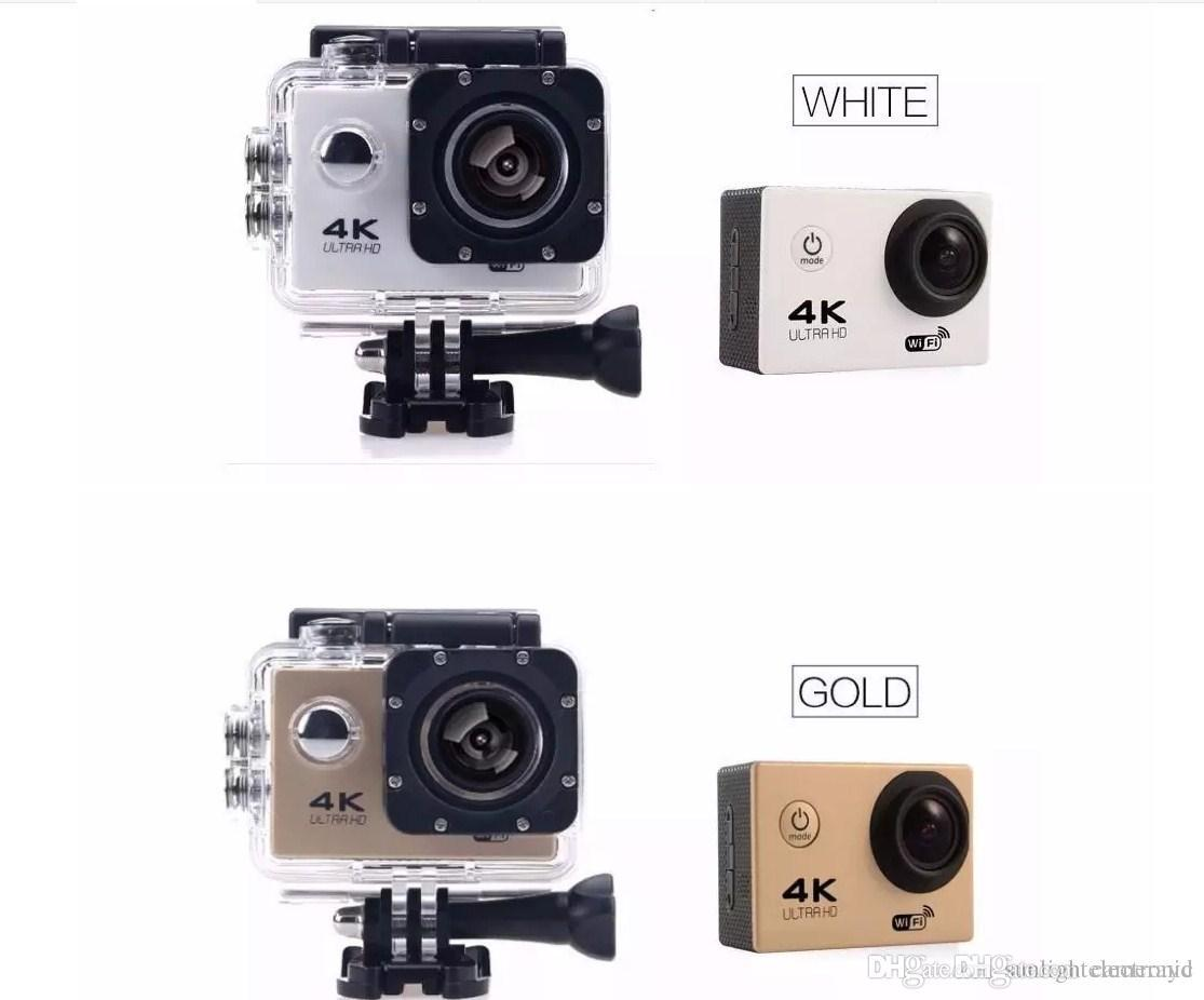 "4K Ultra Hd Action camera F60 4K 30fps 1080P sport WiFi 2.0"" 170D Helmet Cam underwater waterproof Sport Camera With Retail Package"