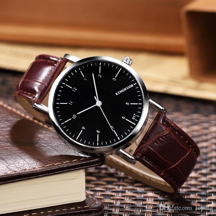2018 Sıcak Satış Moda lady saatler kahverengi deri İzle erkekler Bilezik Kol Marka erkek saati kutusu ile ünlü marka ücretsiz kargo