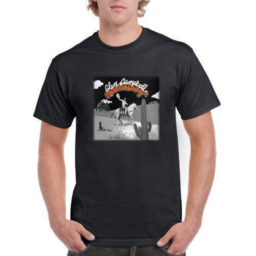 faacfacdefe Rhinestone Cowboy Glen Campbell Country T Shirt Casual Short Sleeve For Men  Clothing Summer Design Shirts Cool Tshirts From Amesion78