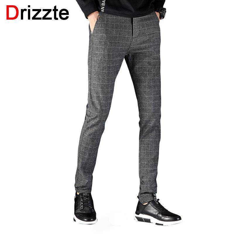 2019 Drizzte Mens Suit Pants Korean Casual Slacks Slim Fit Dress