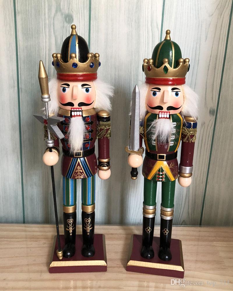 Nutcracker Soldiers H30cm Xmas Figure Home Decoration Mascot Wooden ...
