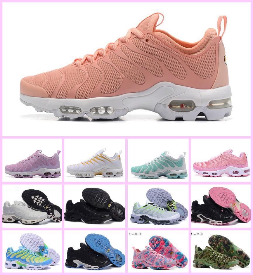 newest 9733d 7ab55 Großhandel Original 2018 Billig Tn Frauen Running Schuhe Tn Ultra Jogging  Atmungsluft Cusion Shoes Top Qualität Chaussures Femme Tn Requin Casual  Shoes Von ...