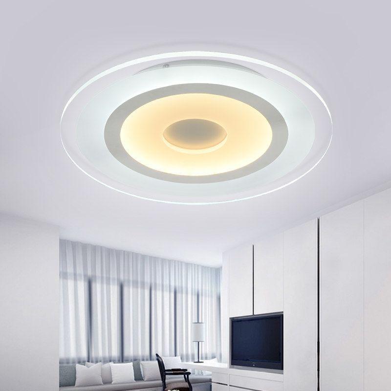 2018 New Circle Indoor Lighting Modern Led Ceiling Lights For Living Room Bedroom Lamp Lamparas De Techo Abajur Ceiling Lamp Fixtures