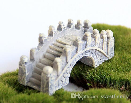 Resina Mini Ponte Em Miniatura Paisagem Jardim de Fadas Musgo Terrário Decoração Ferramenta Jardim Artesanato DHL grátis frete