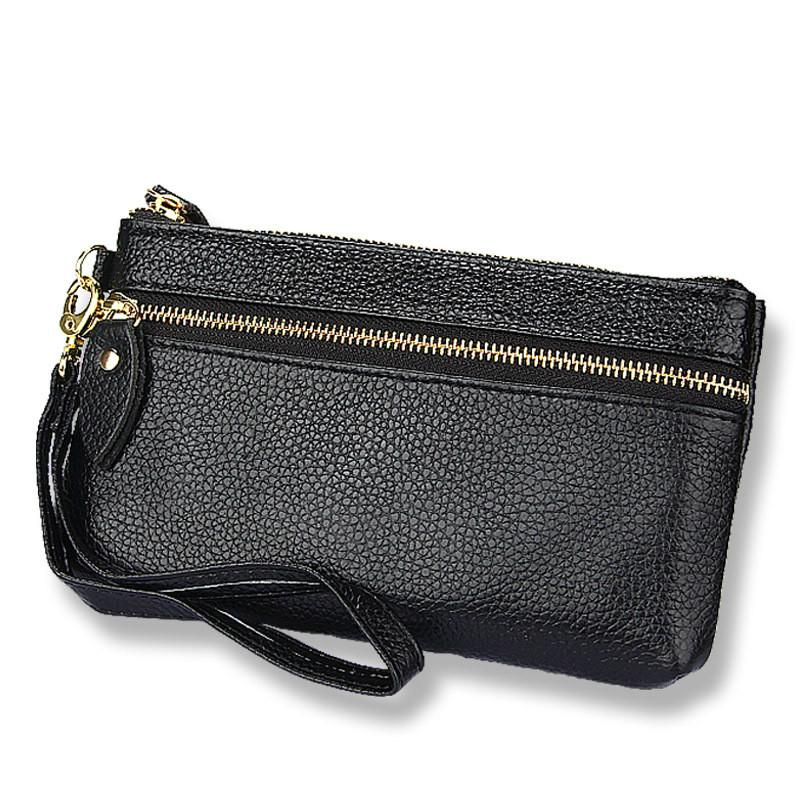 484c8bdc3be5 Allet Woman Candy Genuine Leather New Fashion Women Coin Purse Long ...