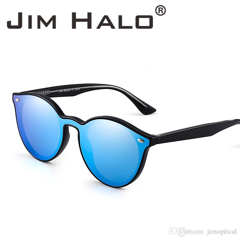 11ffc2f59f Jim Halo Premium Fashion Round Horn Rimmed Frame Sunglasses Flat Mirrored  Lens Sun Glasses Shades Men Women Custom Sunglasses Heart Shaped Sunglasses  From ...