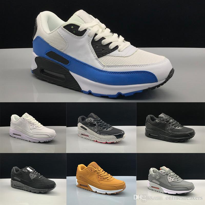 be723789e74 Nike Air Max 90 Airmax The Details Page For More Logo 90 Hombres Mujeres  Zapatos Para Correr Core Triple Negro Blanco Trigo Amarillo Rojo Gris Oreo  Azul ...