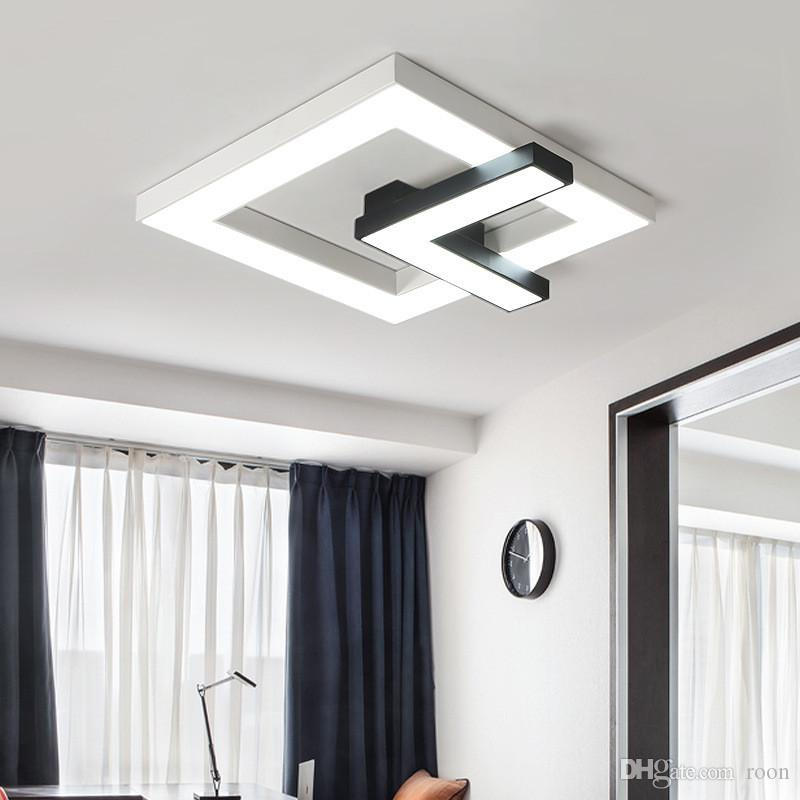 Led-deckenleuchte Decke Lampe Für Foyer Schlafzimmer Led Nordic Eisen Aluminium Acryl Minimlism Led-lampe Led-licht Deckenleuchten