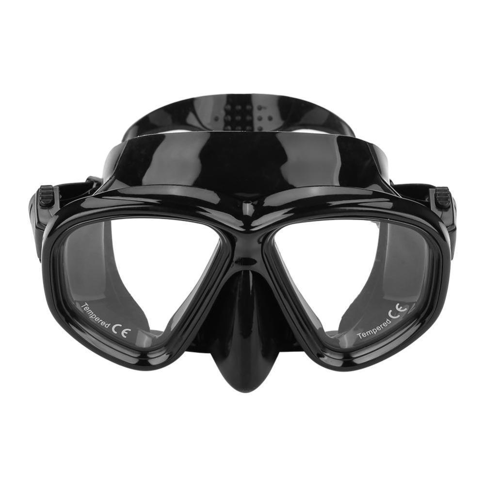 2e97dc38ed Compre BALLENA Negro Cristal Templado Máscara De Buceo Lente Gafas De Buceo  Gafas Buceo Subacuático Conjunto De Natación Accesorios Para Adultos A  $21.88 ...