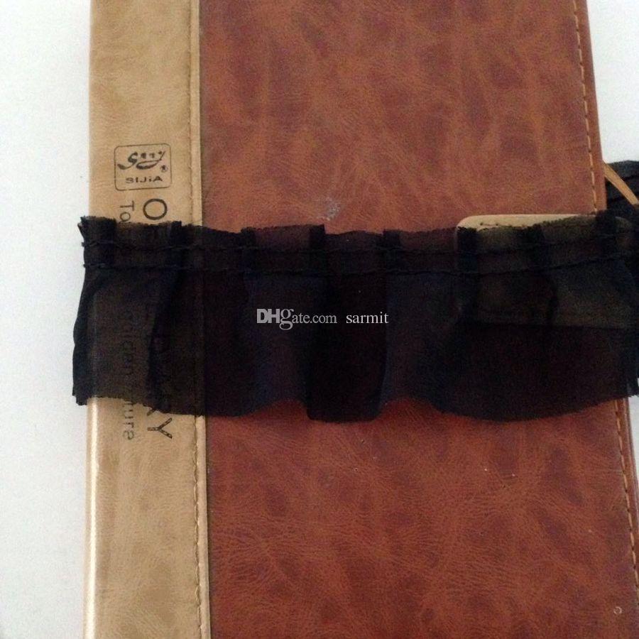 Ruffled Chiffon Spitzenbesatz Schwarz Stoff Sewing Lace Dekoration weichen Tüll Stoff 44 Yds./BILLIGsten