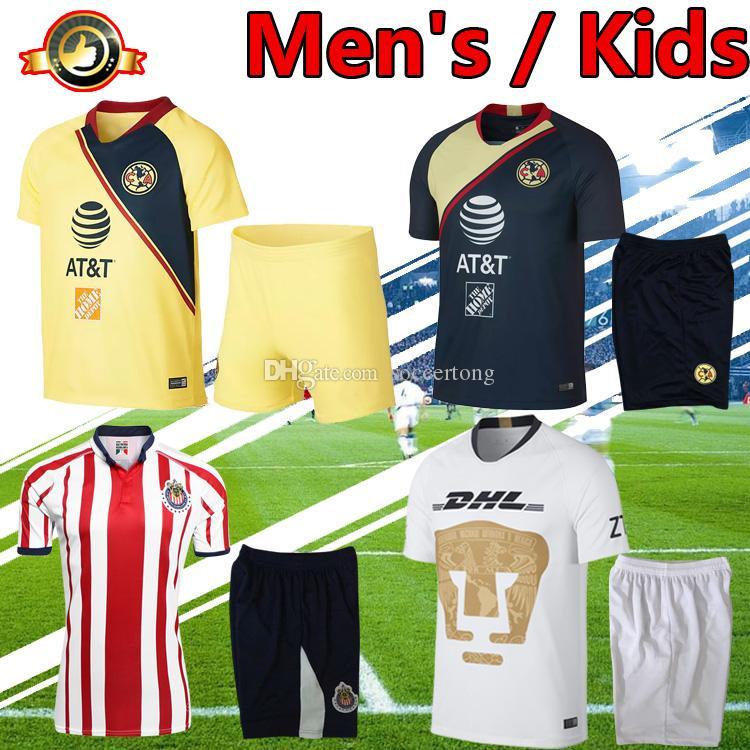 fcbf91ec0 Men s And Kids Kit 2019 Chivas Club America National Autonomous ...