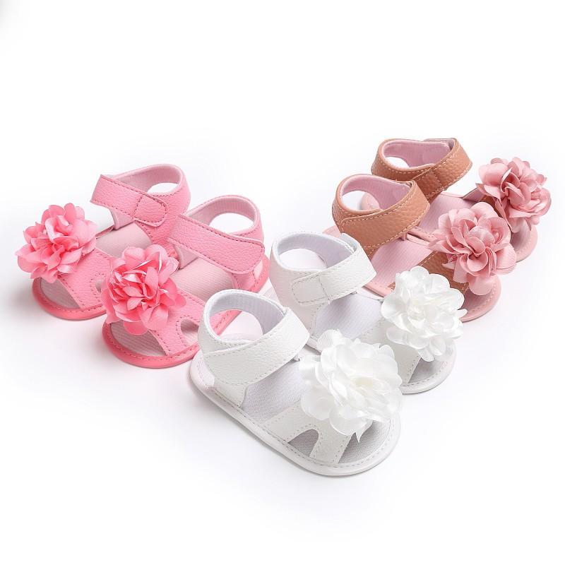 c012b5dac Compre es Sandalias Para Bebés Zapatos Para Niñas Bebés Moda Floral  Princesa Linda Sandalias Para Niñas Zapatos De Moda Para Recién Nacidos A   36.42 Del ...