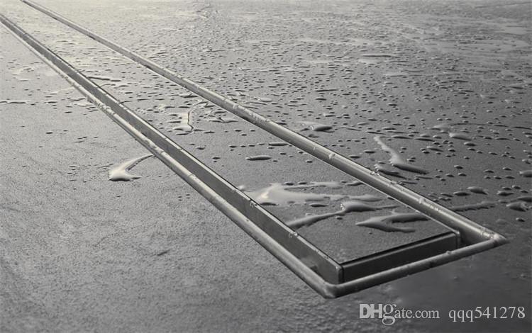 304 inserto di piastrelle in acciaio inox 60 centimetri rettangolare lineare anti-odore di scarico del pavimento bagno hardware doccia invisibile 11-208