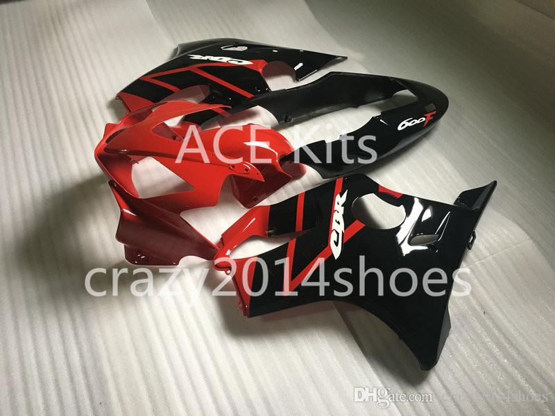 Body repair parts for HONDA CBR600F4I 2004 2005 2006 2007 Injection fairings cbr600 f4i CBR600 f4i 04-07 Red Black gray fairing kit a5