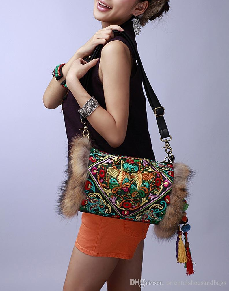 2984bbbccc5 100% Handmade Handbag Purse Shoulder Sling Bag - Fine Oriental Embroidery  Art #138