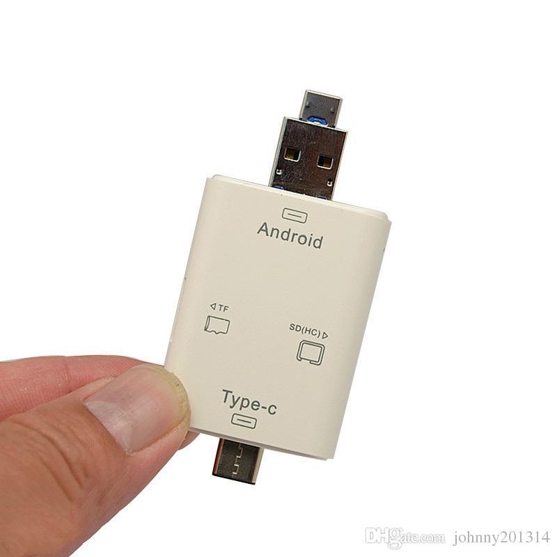 Nouveau lecteur de carte multifonction SD Micro USB 3.1 Adaptateur de téléphone pour ordinateur 3 en 1 USB 2.0 de type C