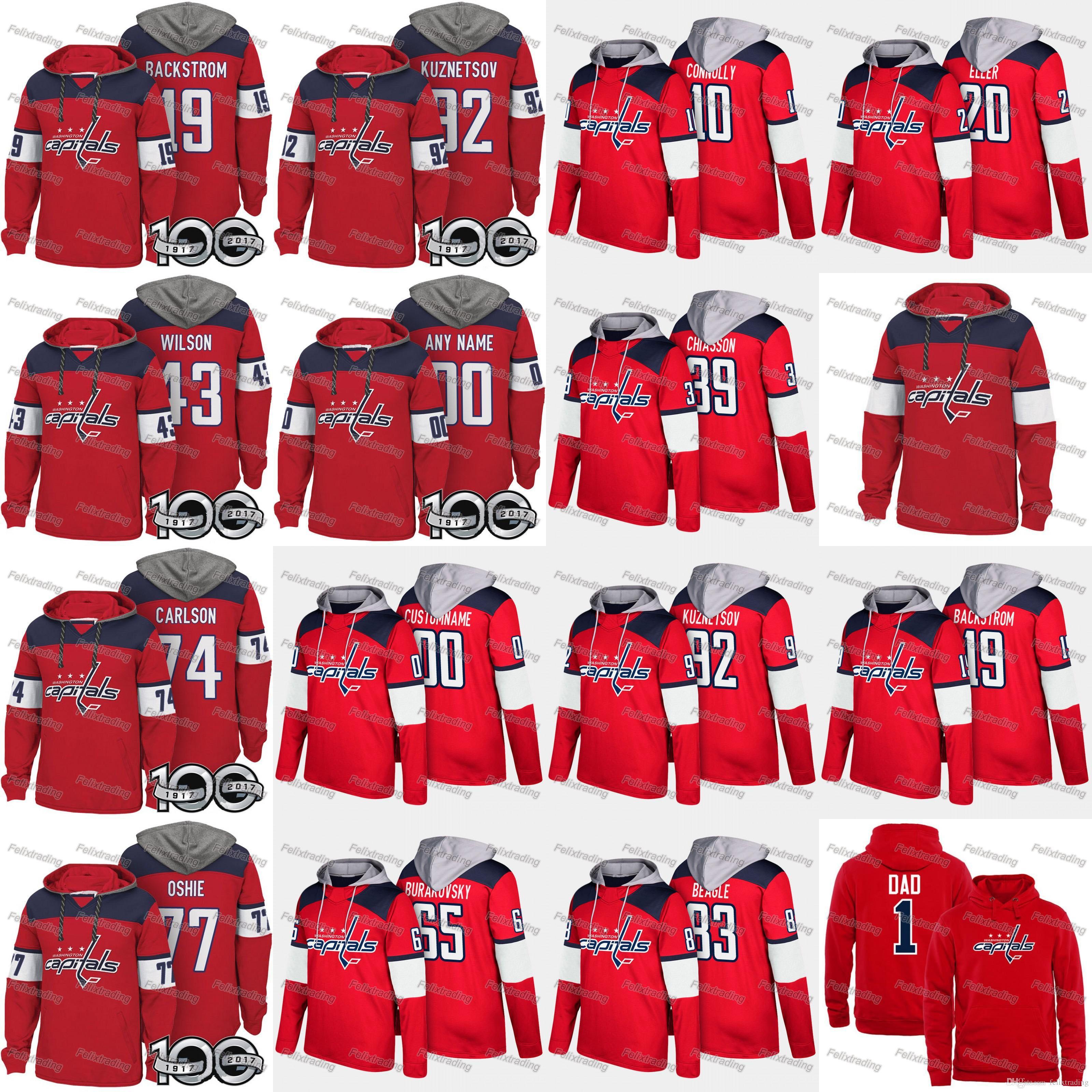 2019 Washington Capitals Hoodie 8 Alex Ovechkin Nicklas Backstrom 43 Tom  Wilson 77 T.J. Oshie 70 Braden Holtby 92 Evgeny Kuznetsov Hockey Hoodies  From ... 0d9d47d69