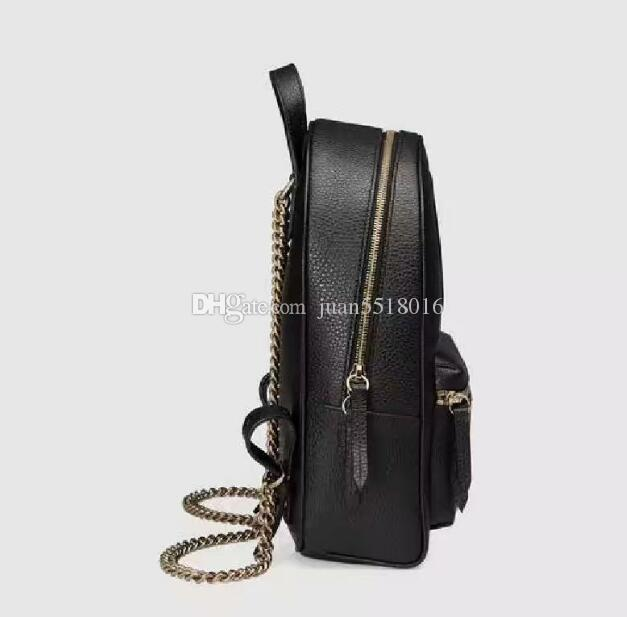 a75d00960a8e Chain Shoulder Straps Backpack Designer 2018 Fashion Women Lady Black PU Leather  Bag Charms Hunting Backpacks Gregory Backpacks From Juan5518016, ...