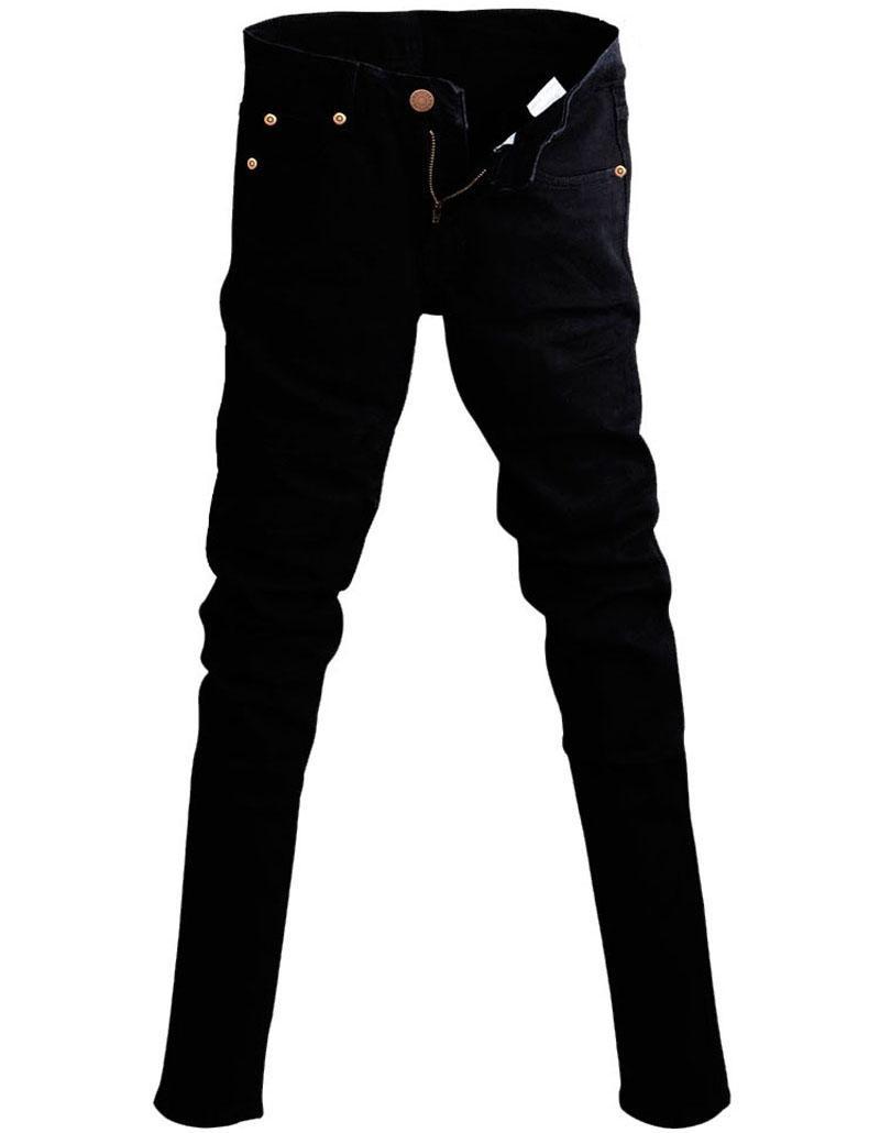 632d73cf566 Купить Оптом Мужские Корейский Дизайнер Черный Slim Fit Джинсы Панк  Прохладный Супер Узкие Брюки С Цепи Для Мужчин Отclothingcart В Категории  Джинсы