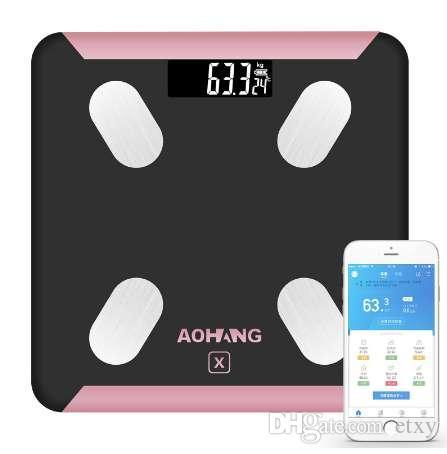 2019 Bluetooth Scales Floor Body Weight Bathroom Scale Smart Backlit