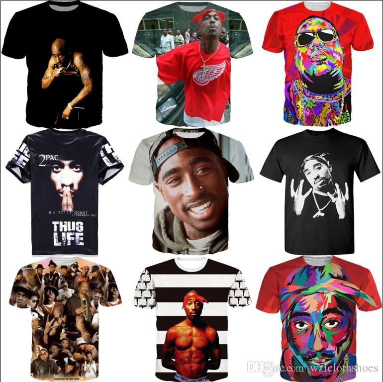 b57a1982 T Shirt 3D T Shirt For Men Women Hip Hop Tops Print Rap Singer Tupac 2PAC  Summer Cool T Shirt Slim Random T Shirts Poker T Shirts From Wzlclothshoes,  ...