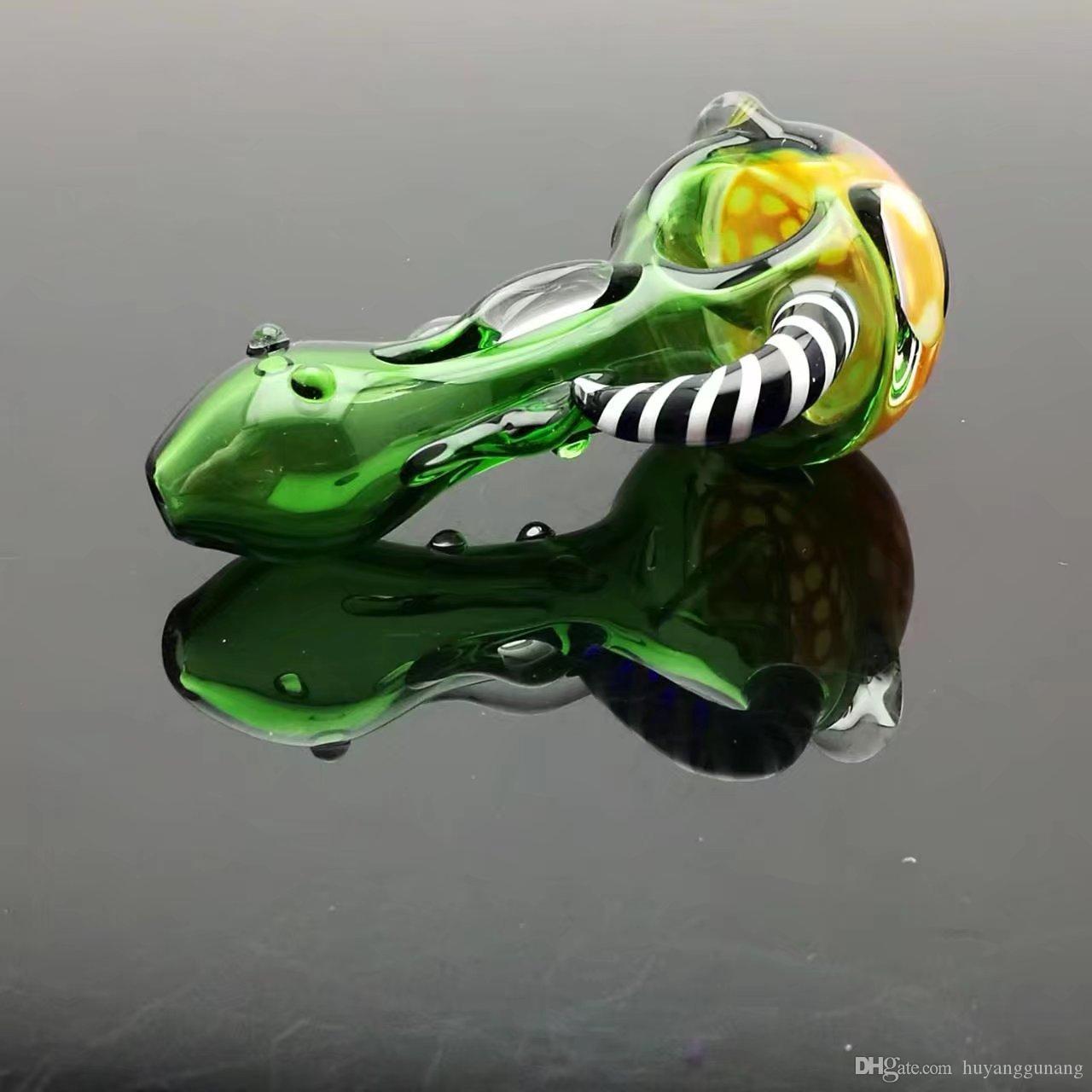 Vaso di vetro di colore della testa del favo Vetro all'ingrosso narghilé, raccordi tubi di acqua di vetro, spedizione gratuita