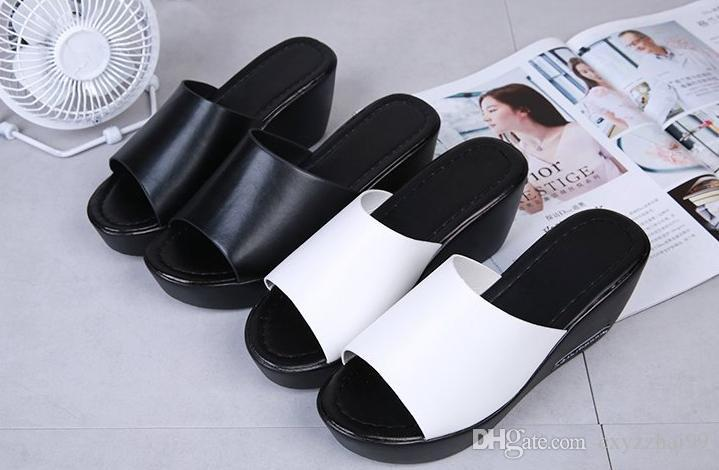 1ee360705 Flat Heel Shoes Women Leisure Brand Summer Sandy Beach New Female Shoes  Open Toe High-heeled Slippers Soft Shoes Women Online with  42.29 Piece on  ...
