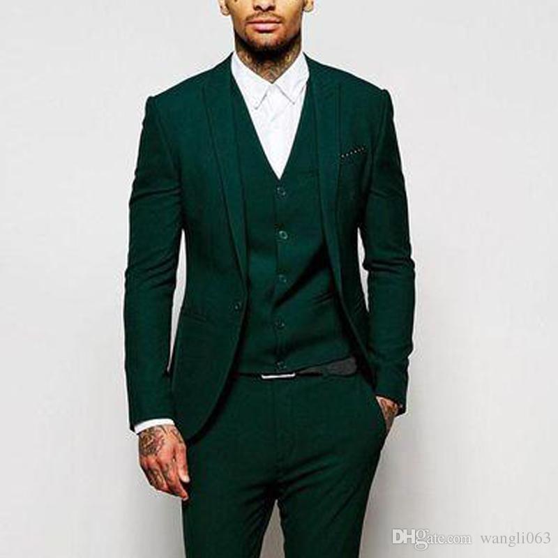 Men Suits Groom//groommen Tuxedo Coat Blazer PantsTrousers Formal Wedding