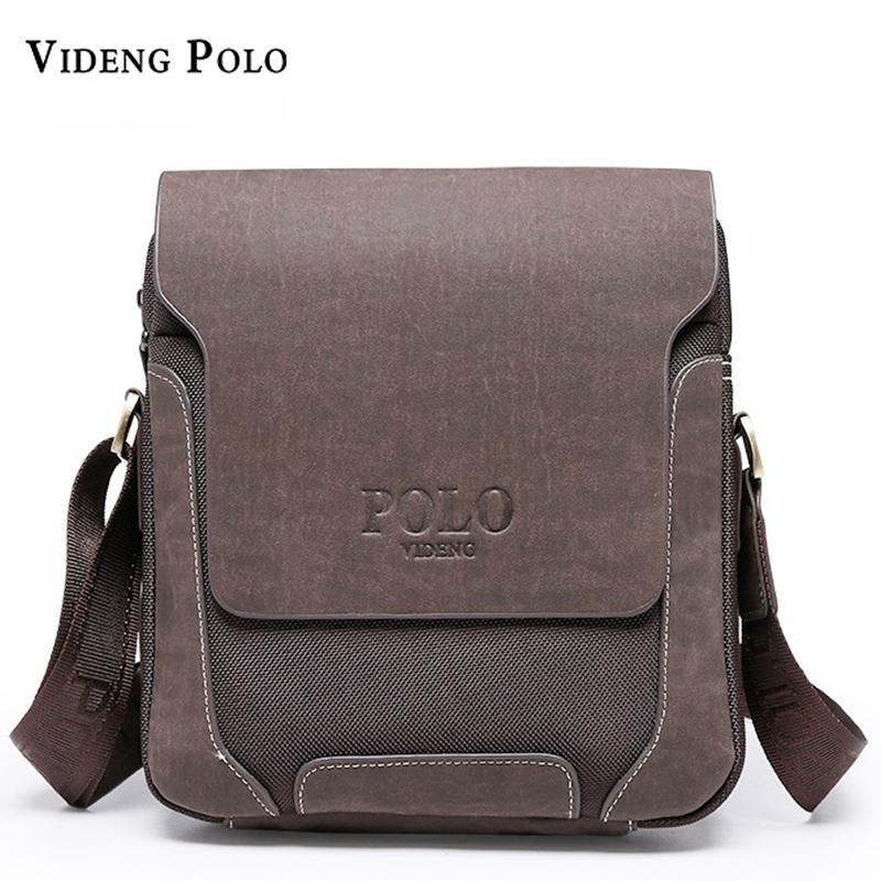 8b58bd93528b 2017 Casual Oxford Patchwork PU Leather Men Bags